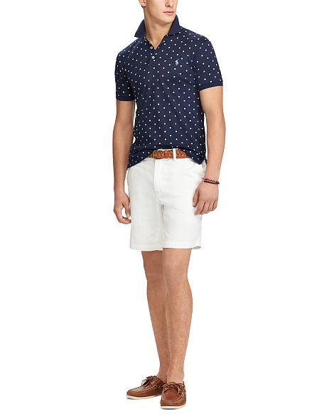 Ralph Lauren Polo Homme – Slim Fit Soft-Touch Polo Shirt – French Navy Polkadots